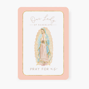 Our Lady of Guadalupe Prayer Card | Pray For Us | Peach