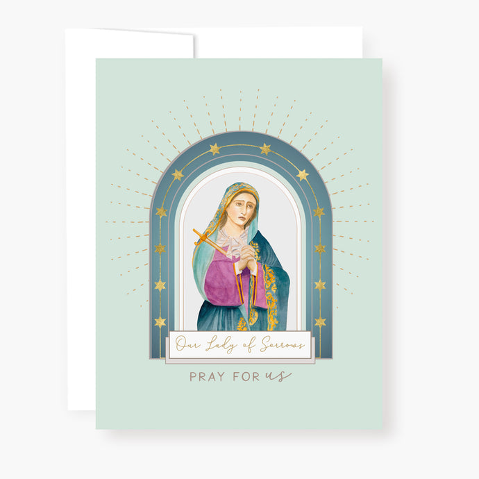 Our Lady of Sorrows Novena Card | Mint Green