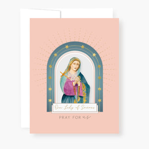 Our Lady of Sorrows Novena Card | Peach