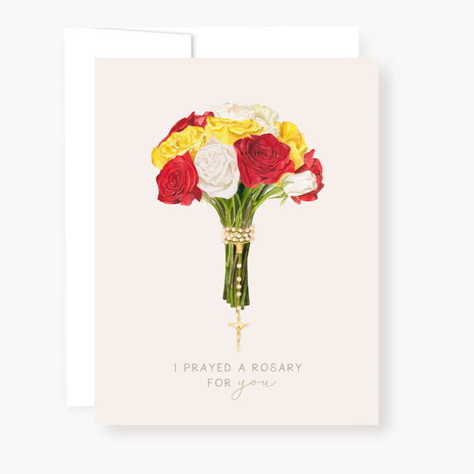 Rosary Card | Bouquet | Mixed Roses