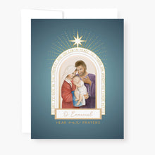Load image into Gallery viewer, St. Andrew Christmas Novena Card | Holy Family | Blue