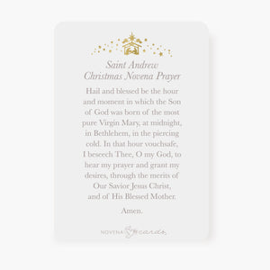 St. Andrew Christmas Novena Prayer Card | Bambinelli Design