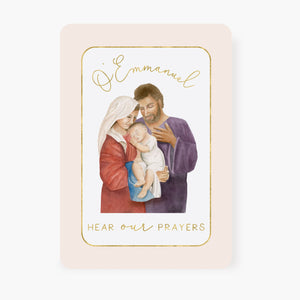 St. Andrew Christmas Novena Prayer Card | Holy Family Design