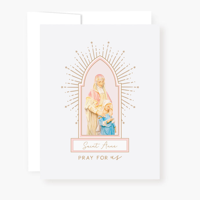 St. Anne Novena Card - front view
