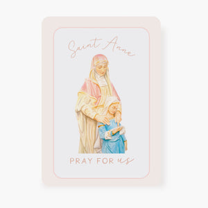 St. Anne Prayer Card | Pray For Us