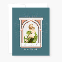 Load image into Gallery viewer, St. Joseph Novena Card | Blue