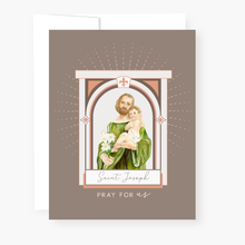 Load image into Gallery viewer, St. Joseph Novena Card - front view