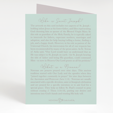 Load image into Gallery viewer, St. Joseph Novena Card | Mint Green
