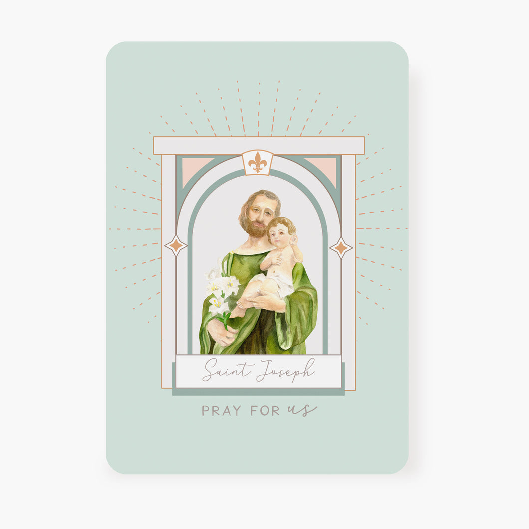 St. Joseph Prayer Card | Mint Green