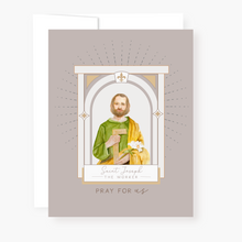 Load image into Gallery viewer, St. Joseph the Worker Novena Card - front view