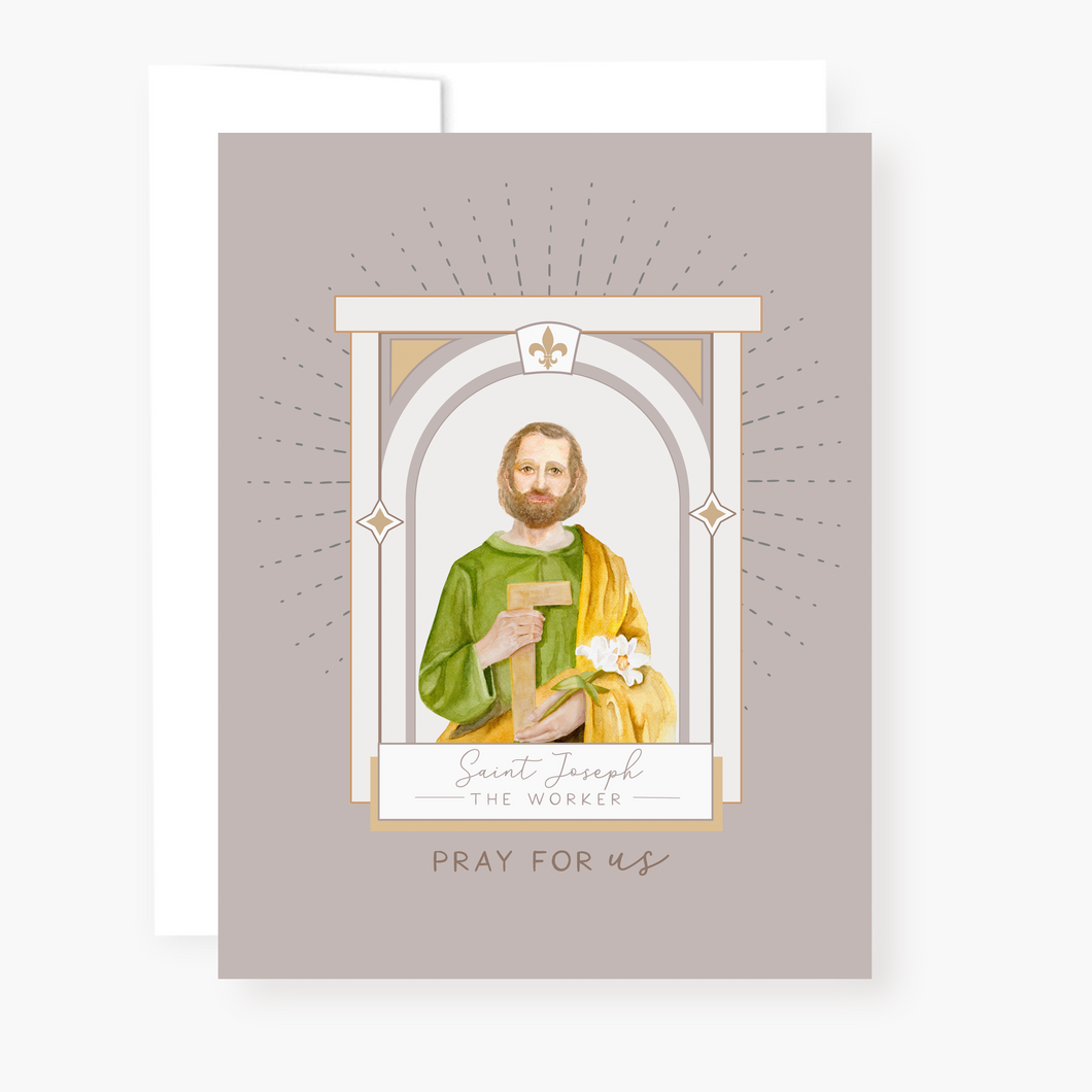St. Joseph the Worker Novena Card - front view