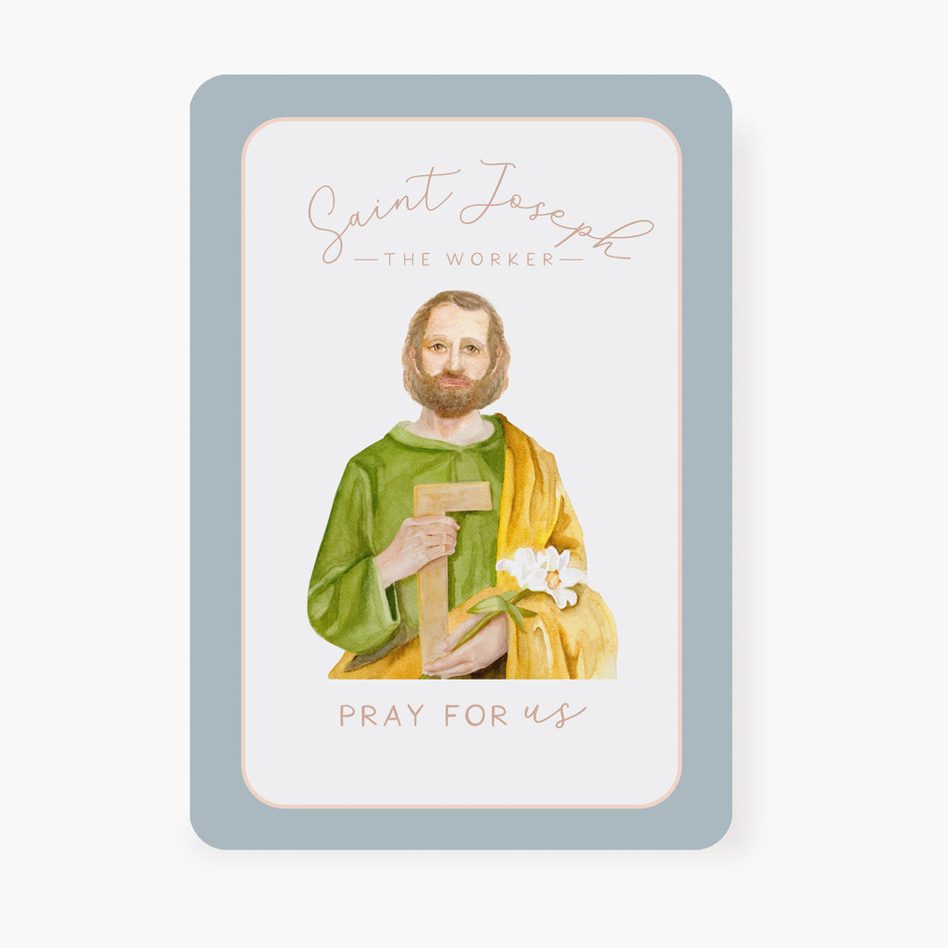 St. Joseph the Worker Prayer Card | Pray For Us