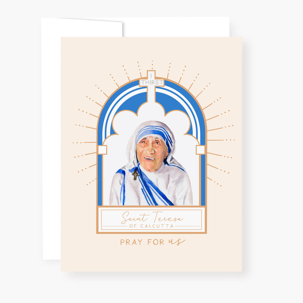 St. Teresa of Calcutta Novena Card | Beige