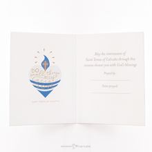 Load image into Gallery viewer, St. Mother Teresa of Calcutta Novena Card - inside view