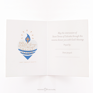 St. Mother Teresa of Calcutta Novena Card - inside view