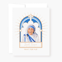 Load image into Gallery viewer, St. Teresa of Calcutta Novena Card | White