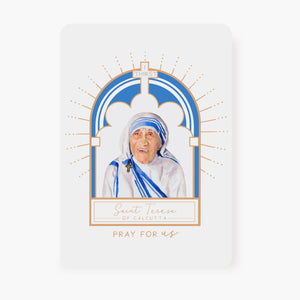 St. Teresa of Calcutta Prayer Card | Arch Design | Memorare Prayer