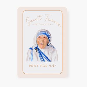St. Teresa of Calcutta Prayer Card | Pray for Us | Memorare Prayer