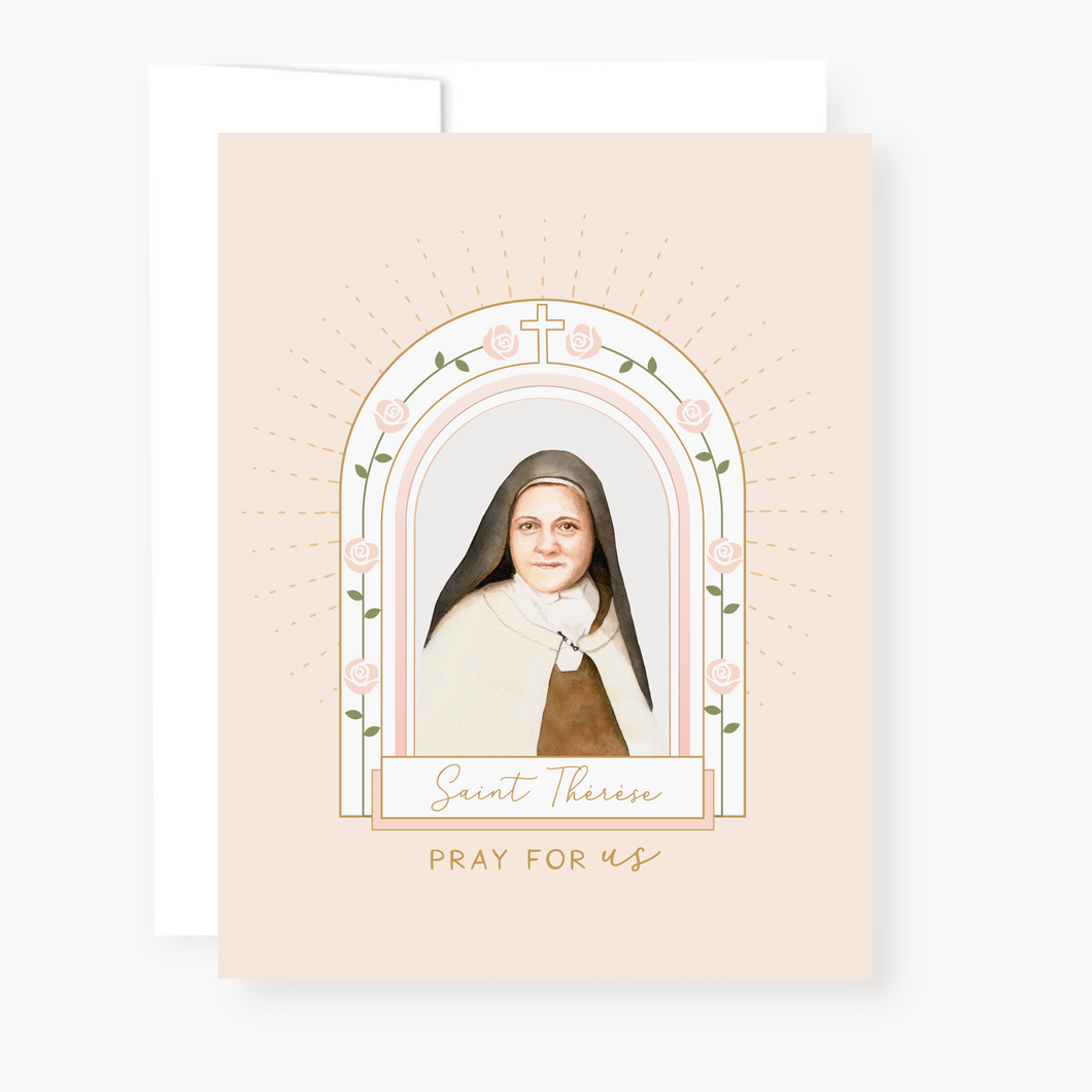 St. Therese Novena Card - front view
