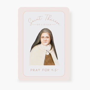 St. Therese Prayer Card | Pray For Us