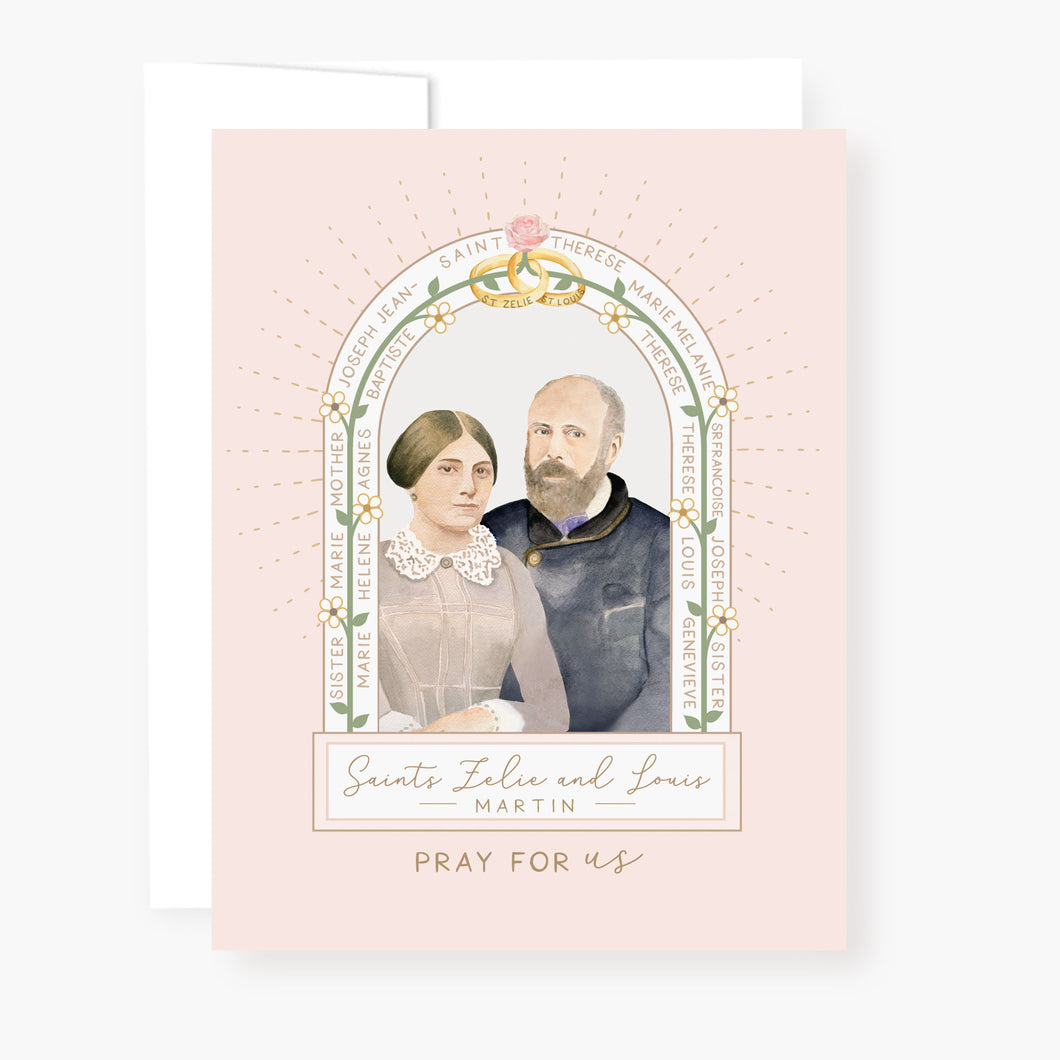 Sts. Louis and Zelie Martin Novena Card | Pink