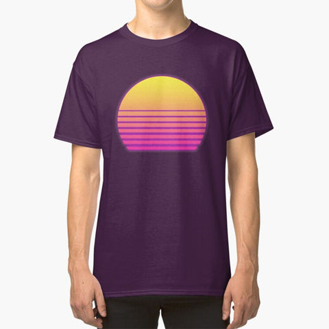 Synthwave Sun 80s Tshirt