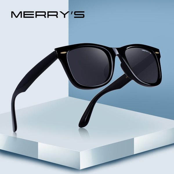 MERRYS DESIGN Men/Women Classic Retro Rivet Polarized Sunglasses 100% UV Protection
