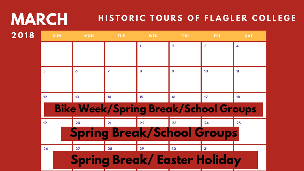 March Historical Tour Schedule