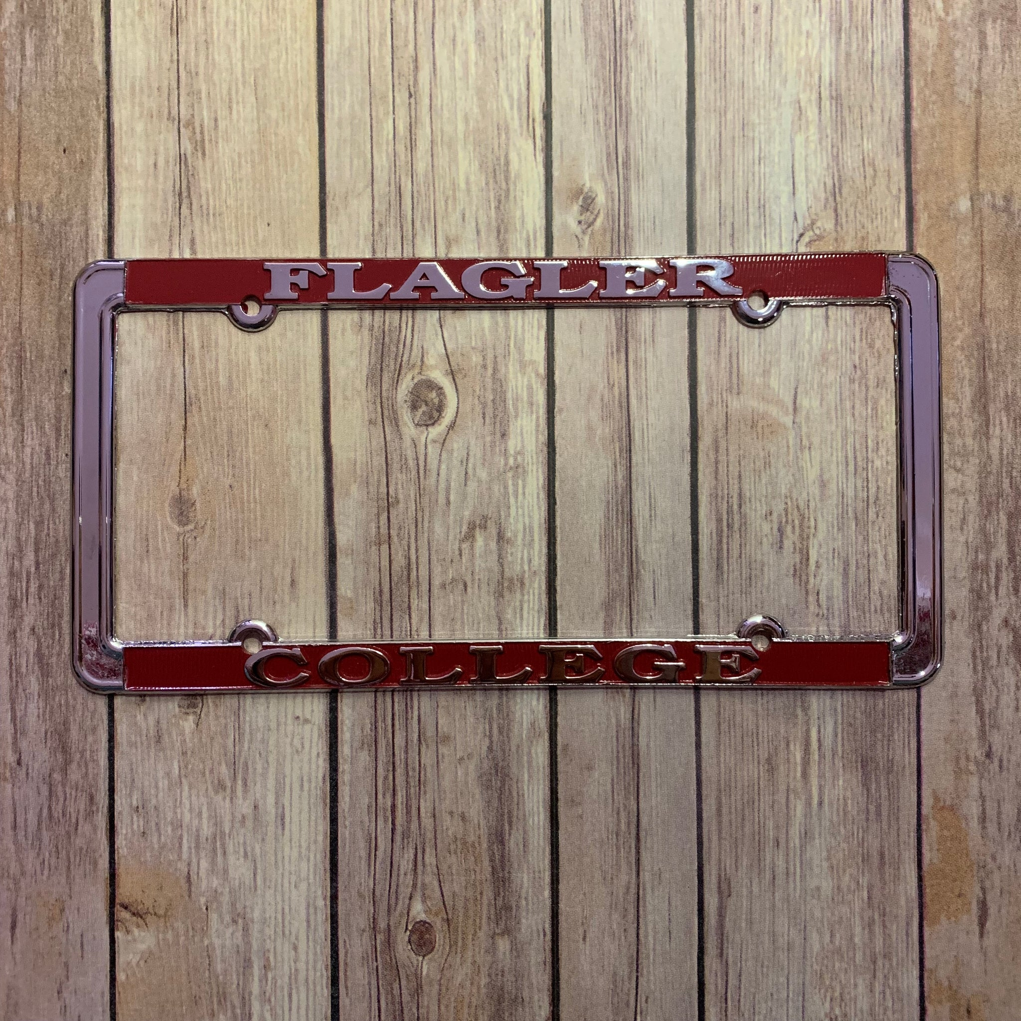 Metal License Plate Frame - Regular Silver