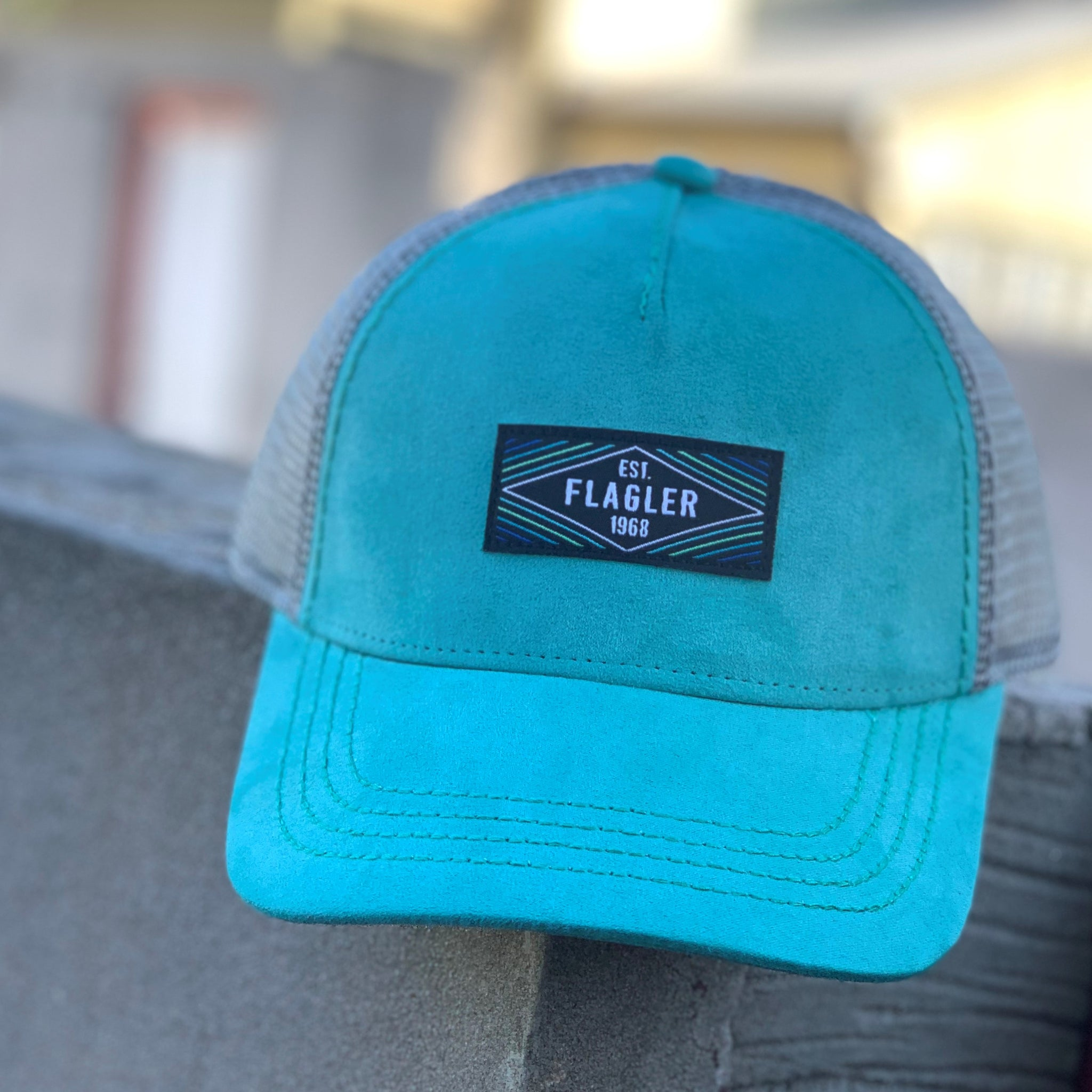 Mint Moda Diamond Patch Trucker