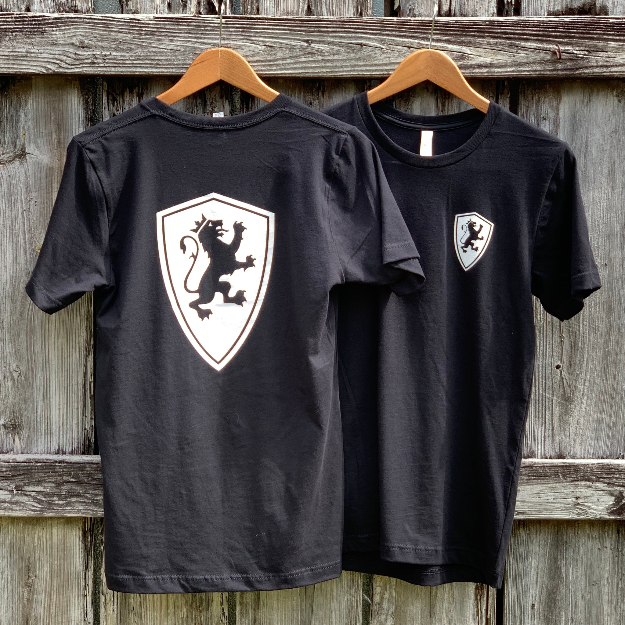 Black Full Shield Back T-Shirt