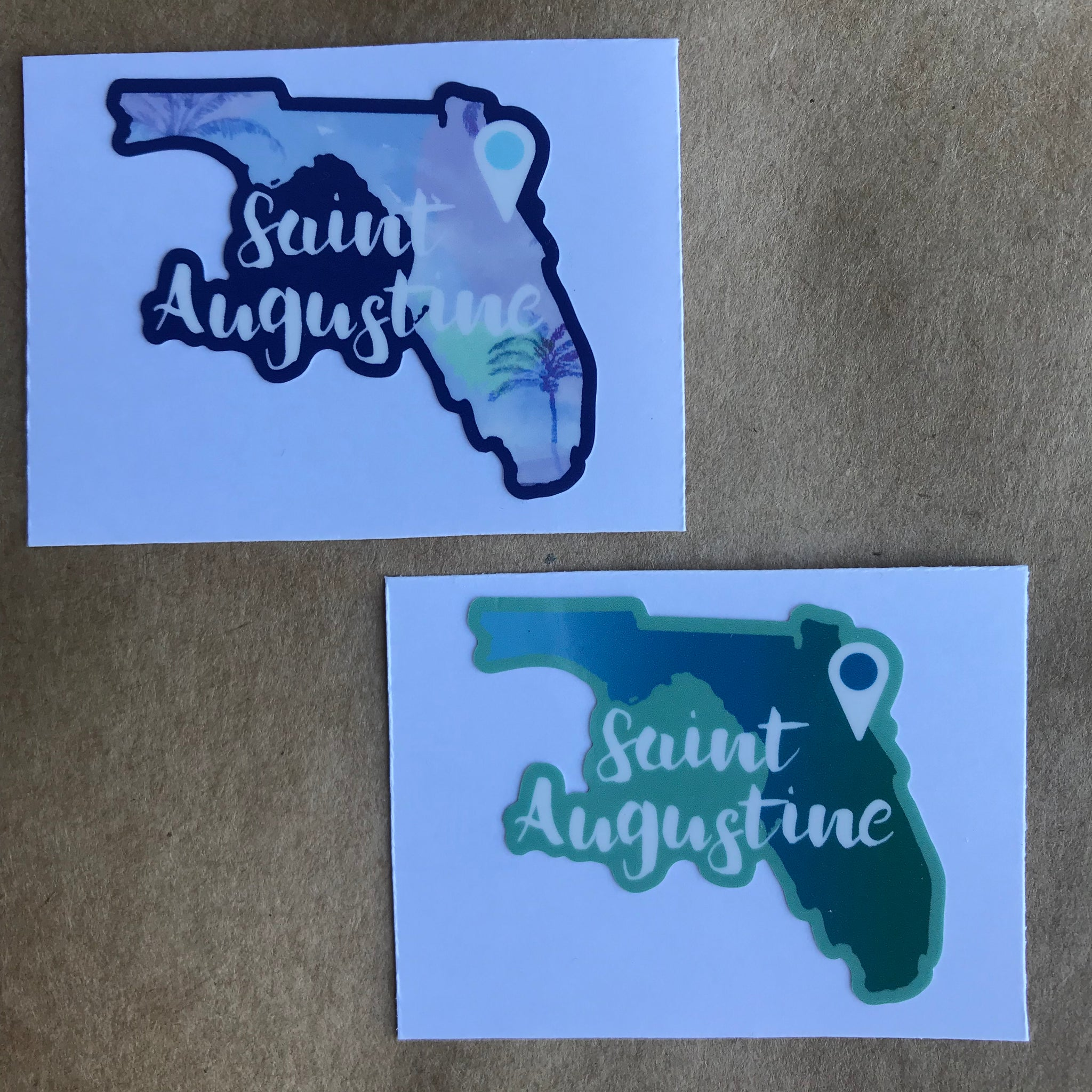 St. Augustine sticker with Florida state design