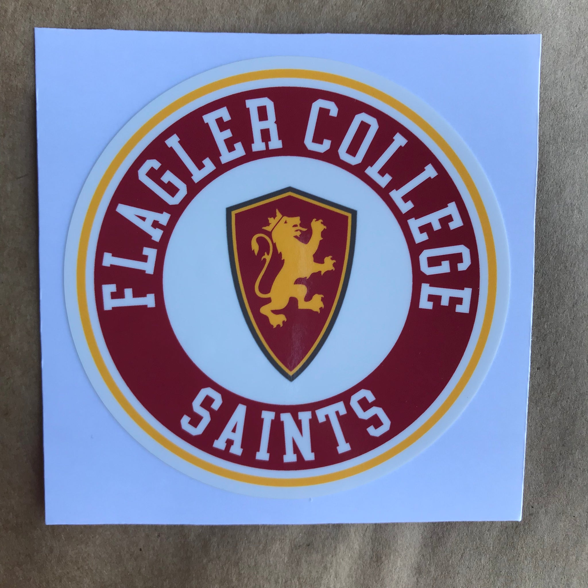 Flagler College Saints Round Sticker
