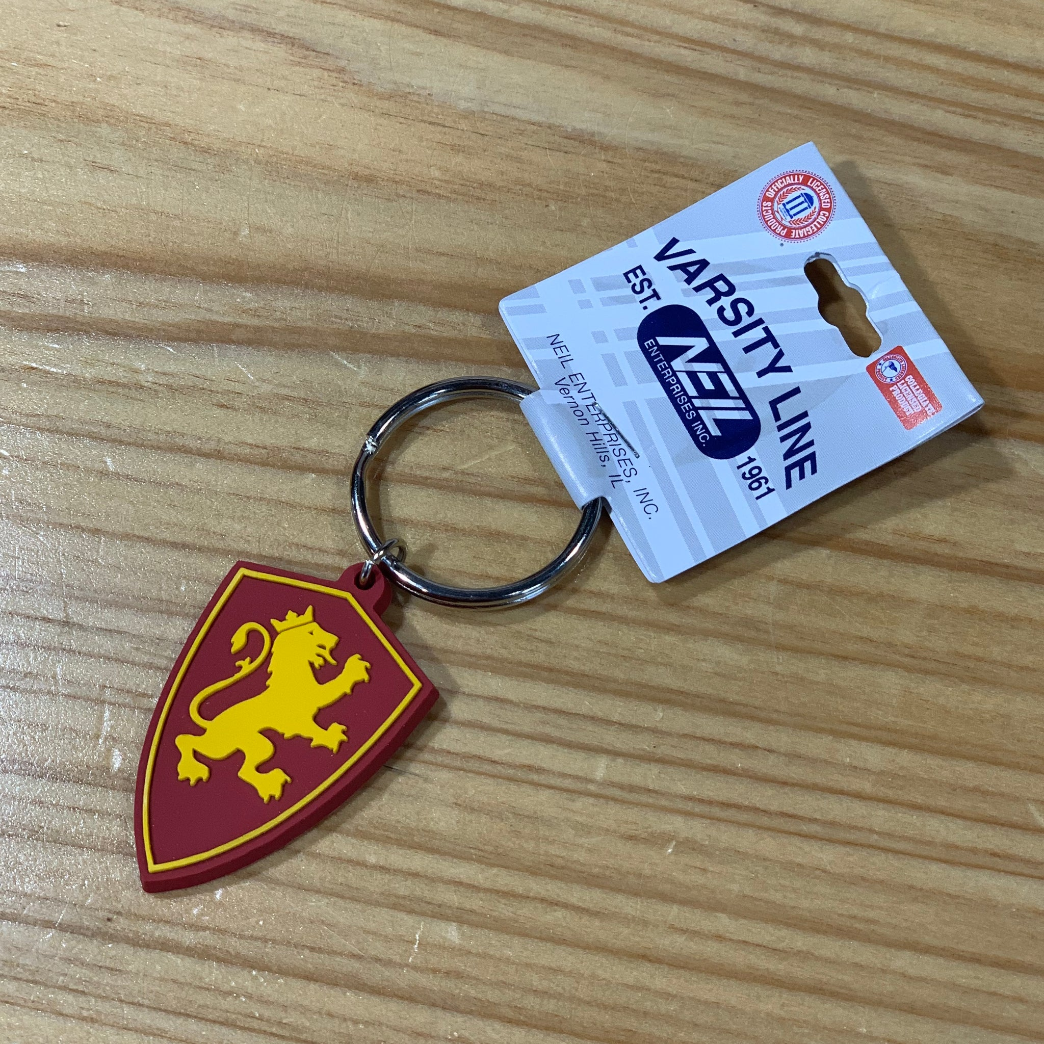 Plastic Flagler shield key chain