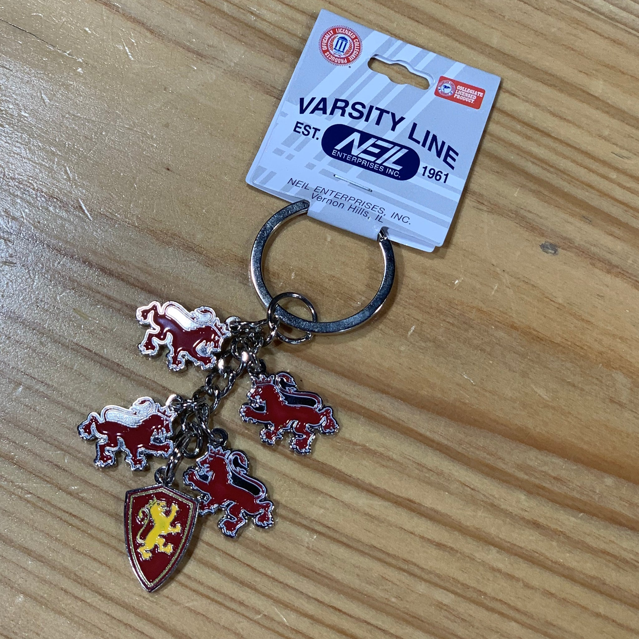 Flagler logo charm dangle key chain