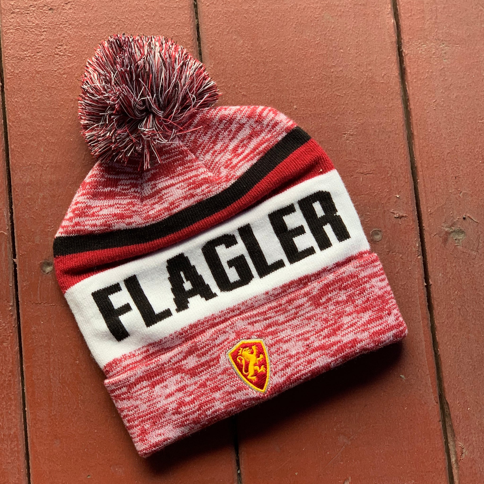 Flagler Roll Up Beanie with Pom