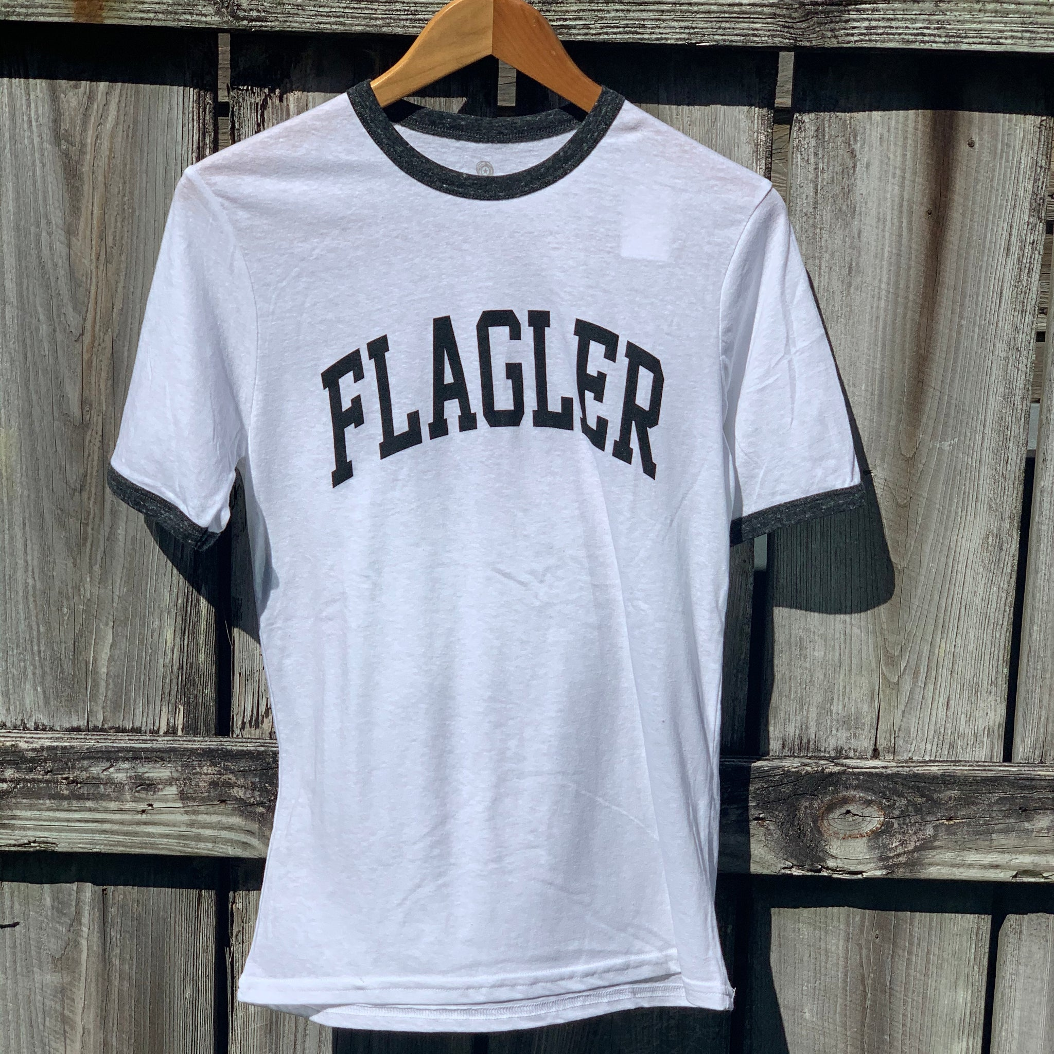 Flagler White and Black Ringer T-Shirt