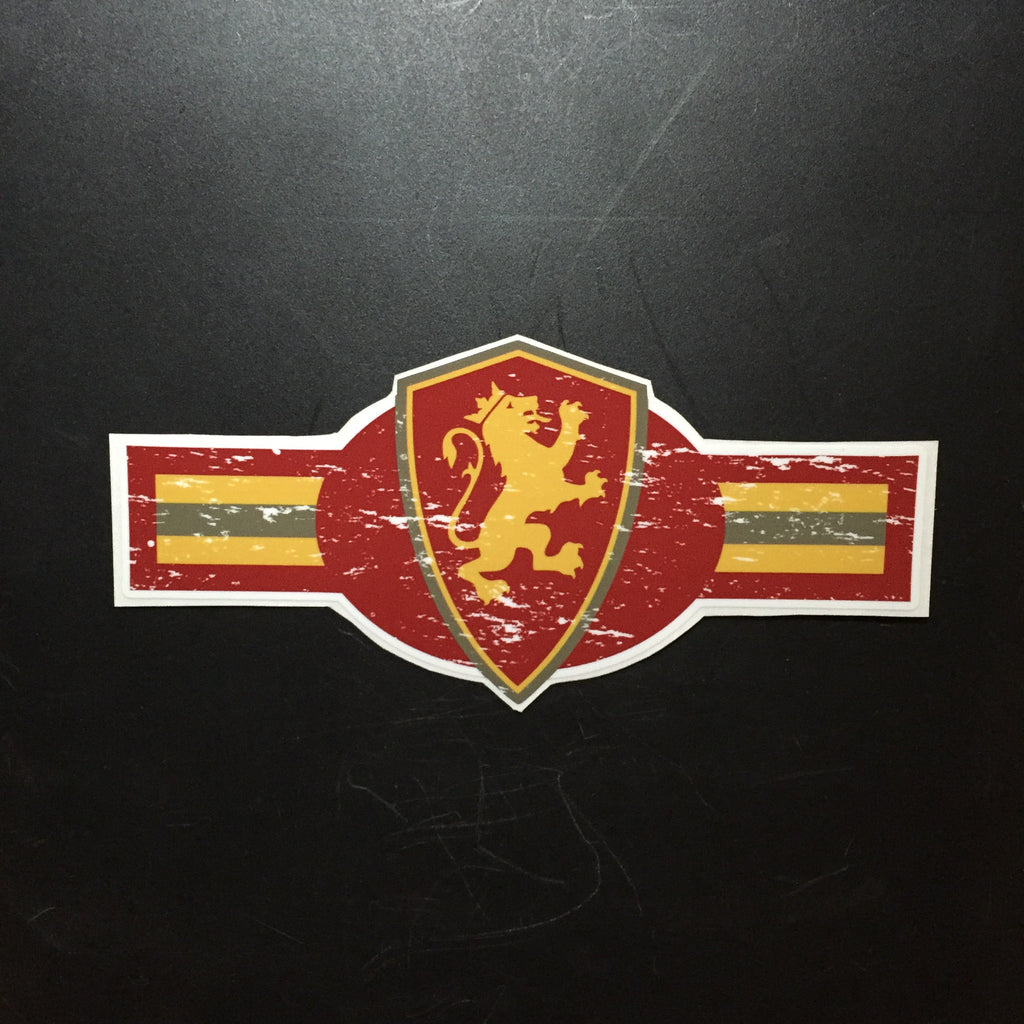 Striped Shield Sticker