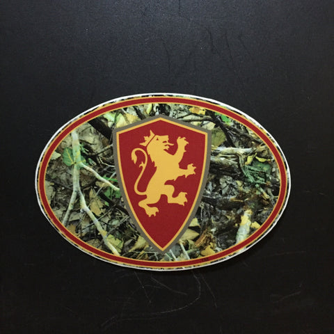 Camo Oval Decal
