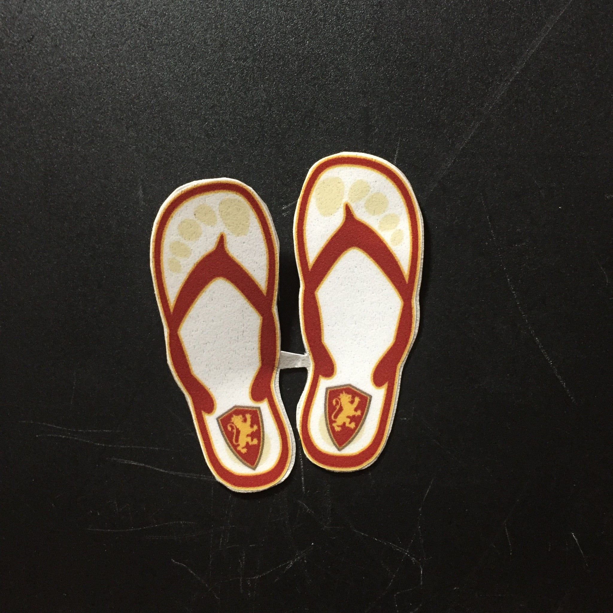 Mini White Flip Flop Decal