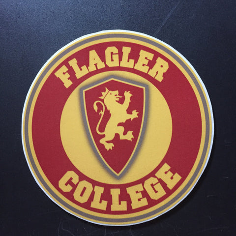 Circle Flagler College Decal