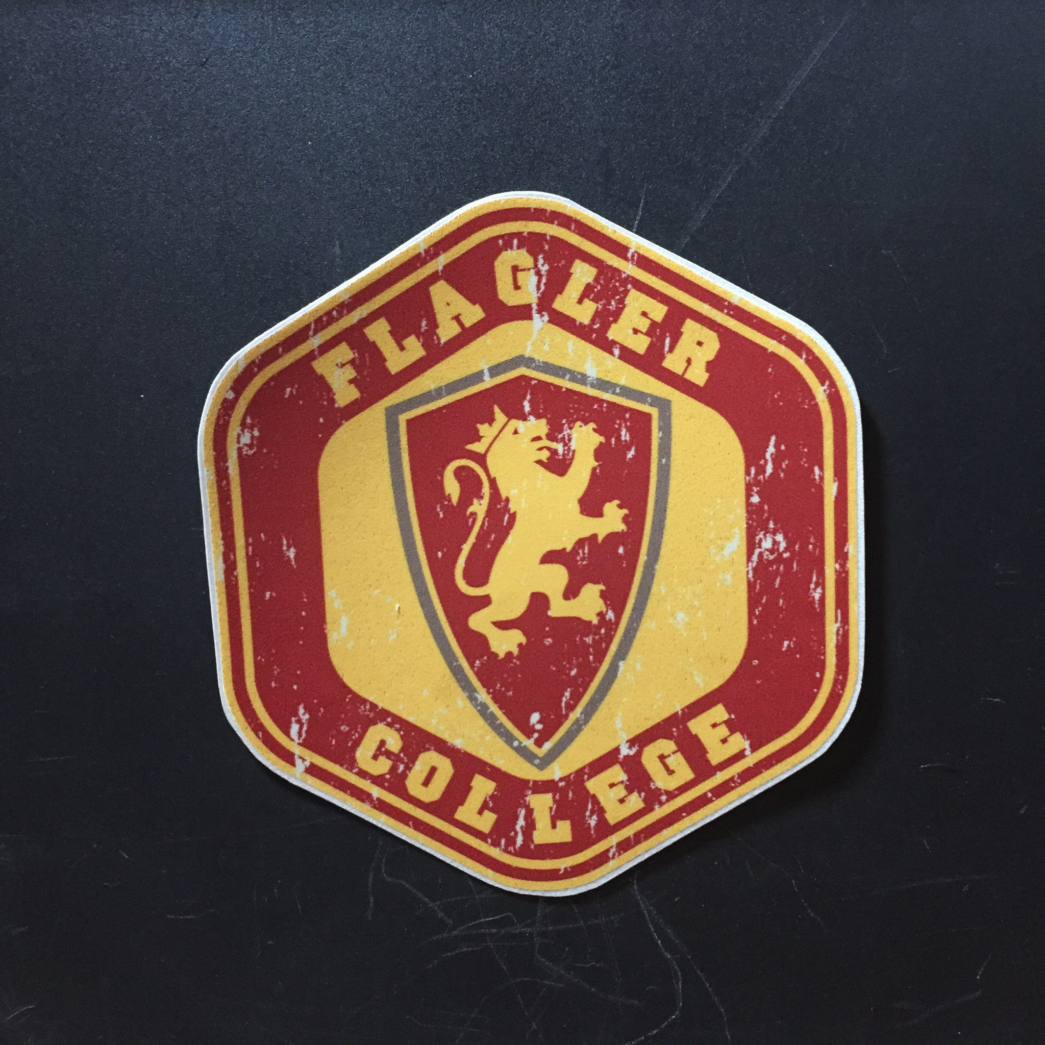 Hexagon Flagler College Decal