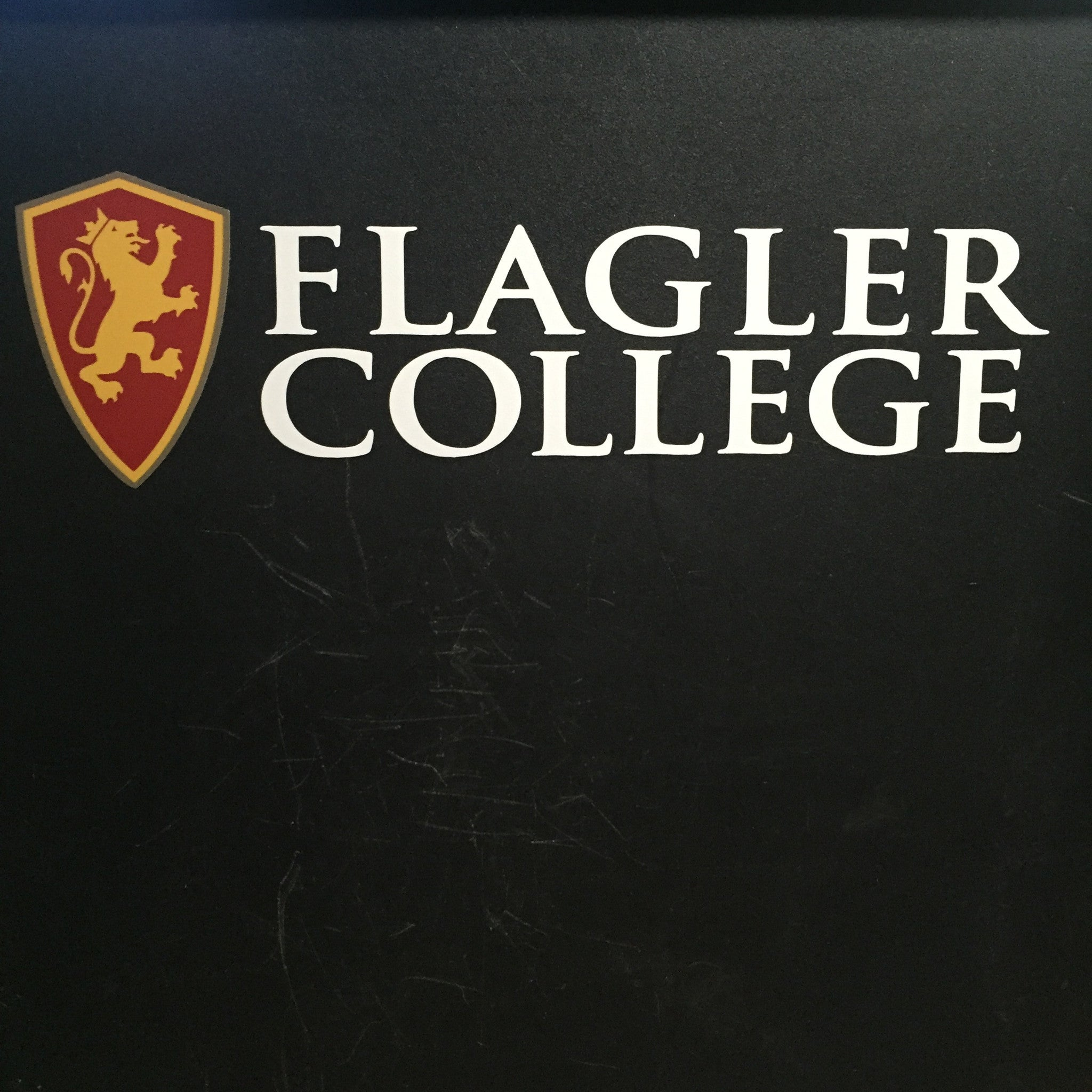 Flagler College with Shield Decal