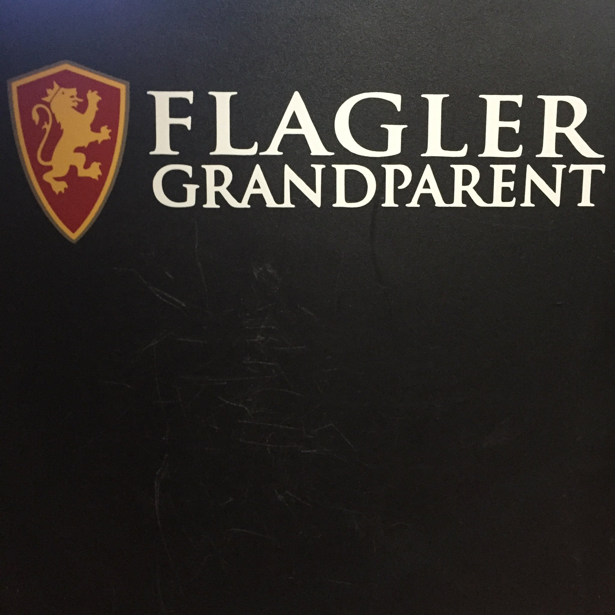 full color shield and Flagler grandparent in white decal