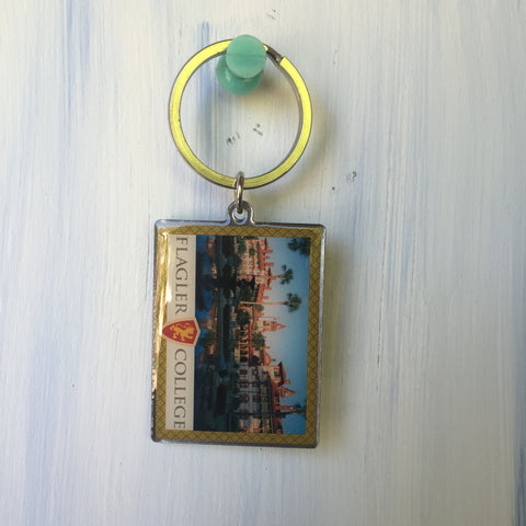 Square Building Keychain