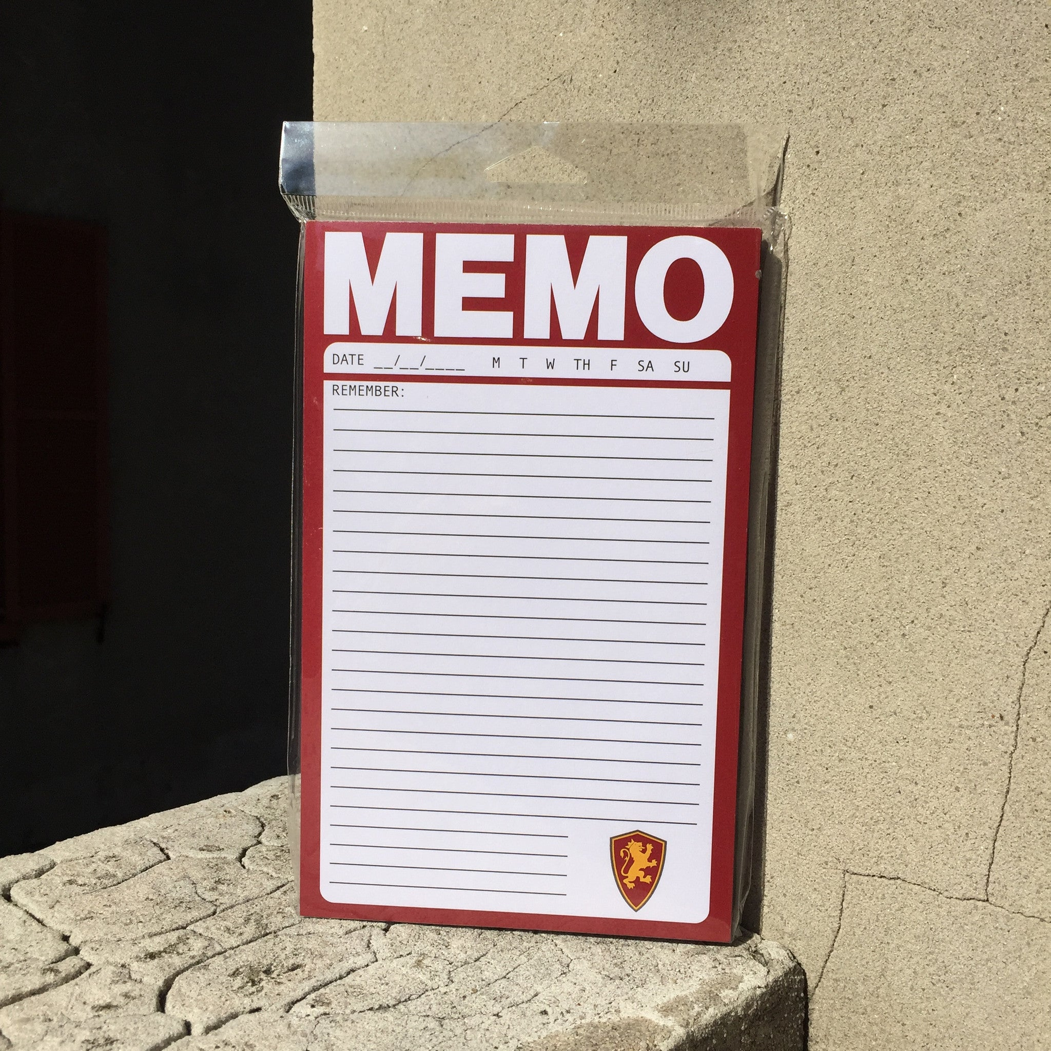 red and white Flagler college Memo pad