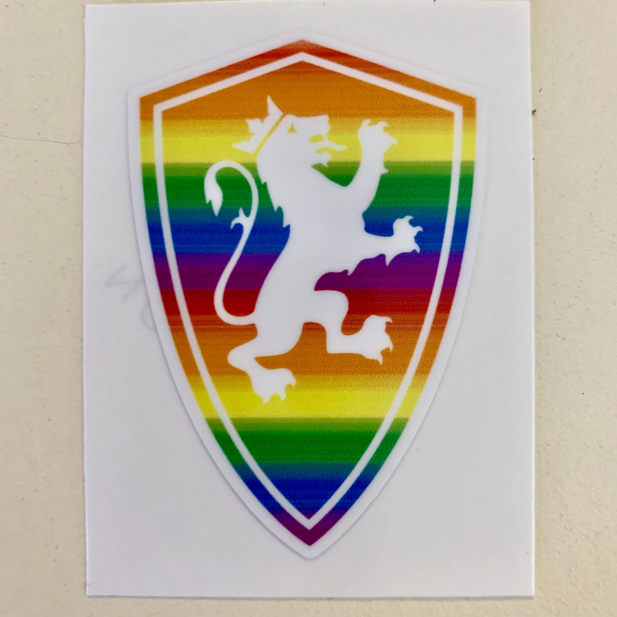 Flagler rainbow shield logo sticker