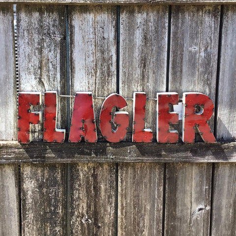 Flagler Metal Sign