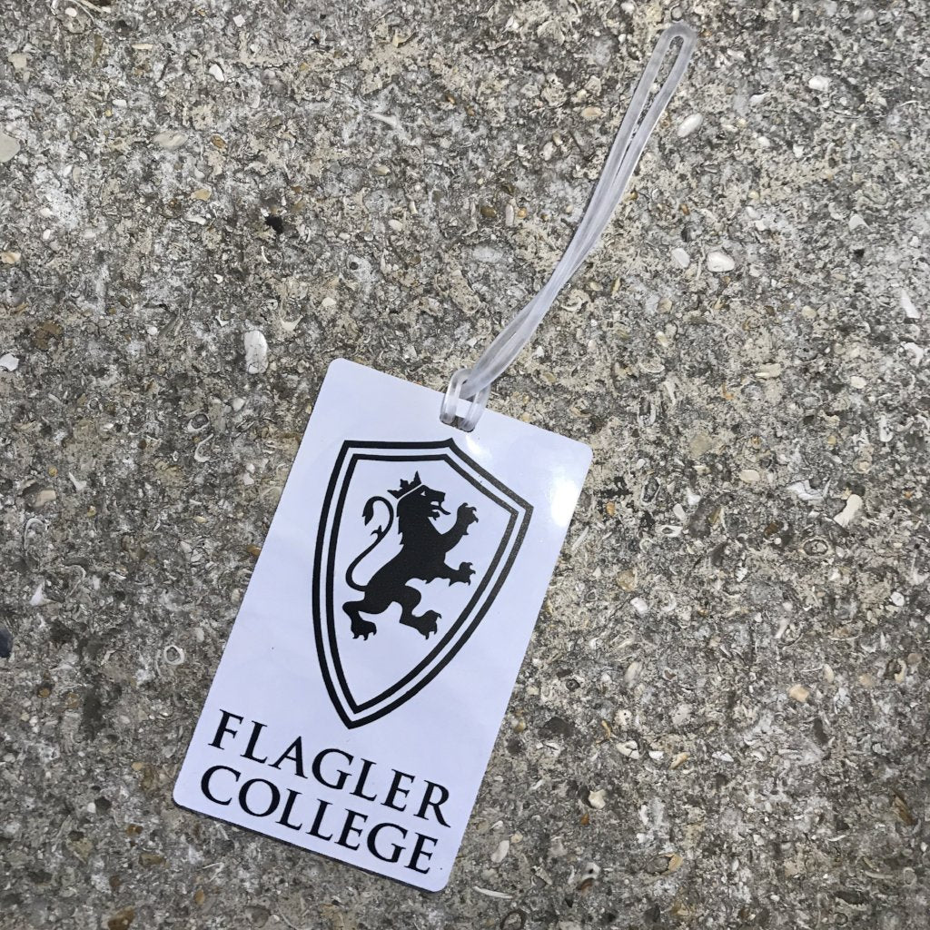 Flagler white Luggage Tag
