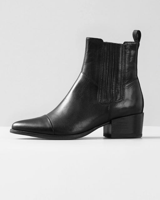 Vagabond Shoemakers:Marja Chelsea Boot – Black Leather,ANOMIE